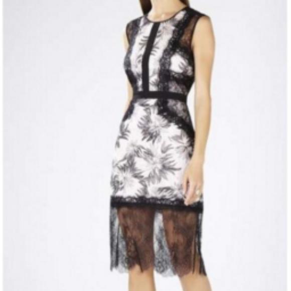 7476878a931b07 BCBGMaxAzria Dresses   Skirts - BCBG Black and Pink Lace Dress